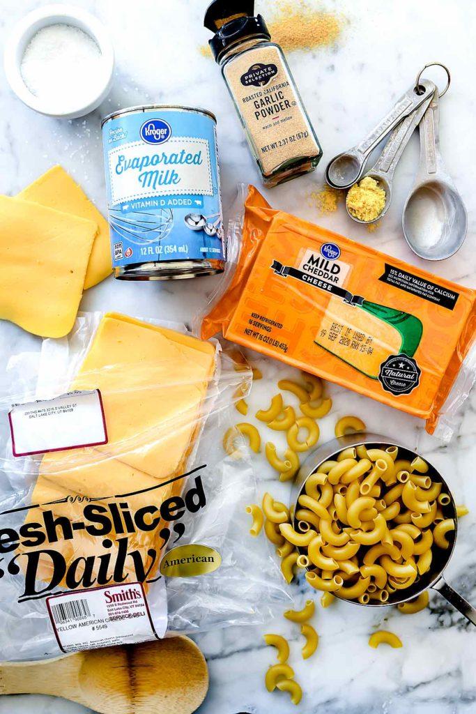 Ingredients Stovetop Mac n Cheese   foodiecrush.com