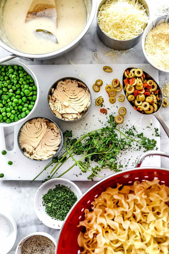 Ingredients Tuna Noodle Casserole | foodiecrush.com