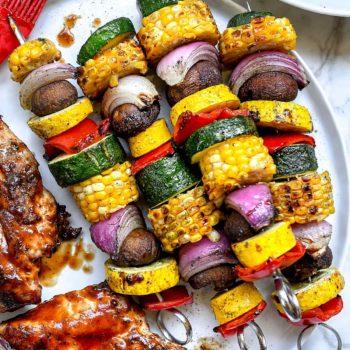 Grilled Vegetable Skewers | foodiecrush.com
