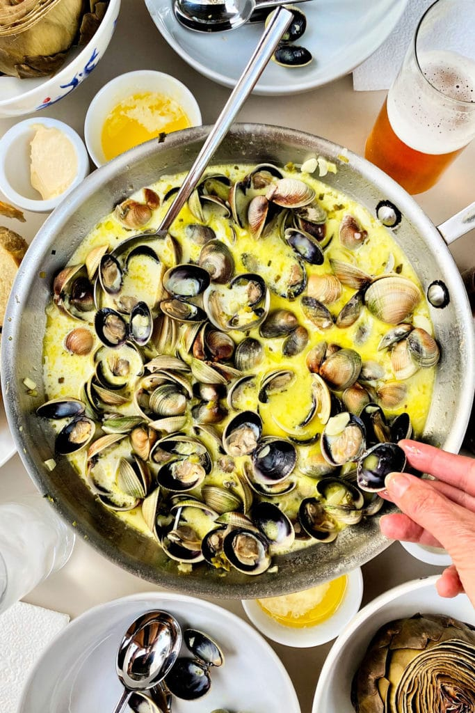 The Best Steamed Clams foodiecrush.com