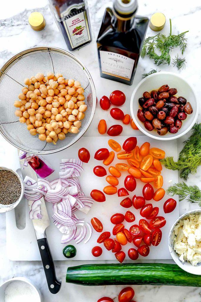 Greek Chickpea Salad | foodiecrush.com