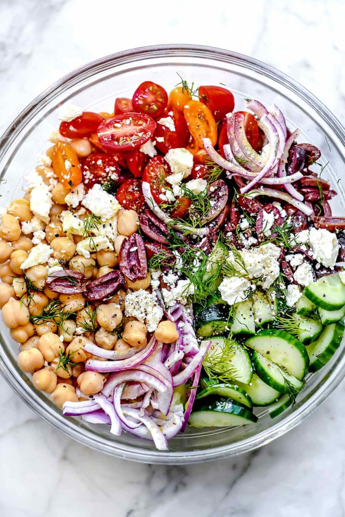 Greek Chickpea Salad | foodiecrush.com