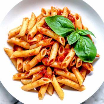 Penne with Marinara | foodiecrush.com