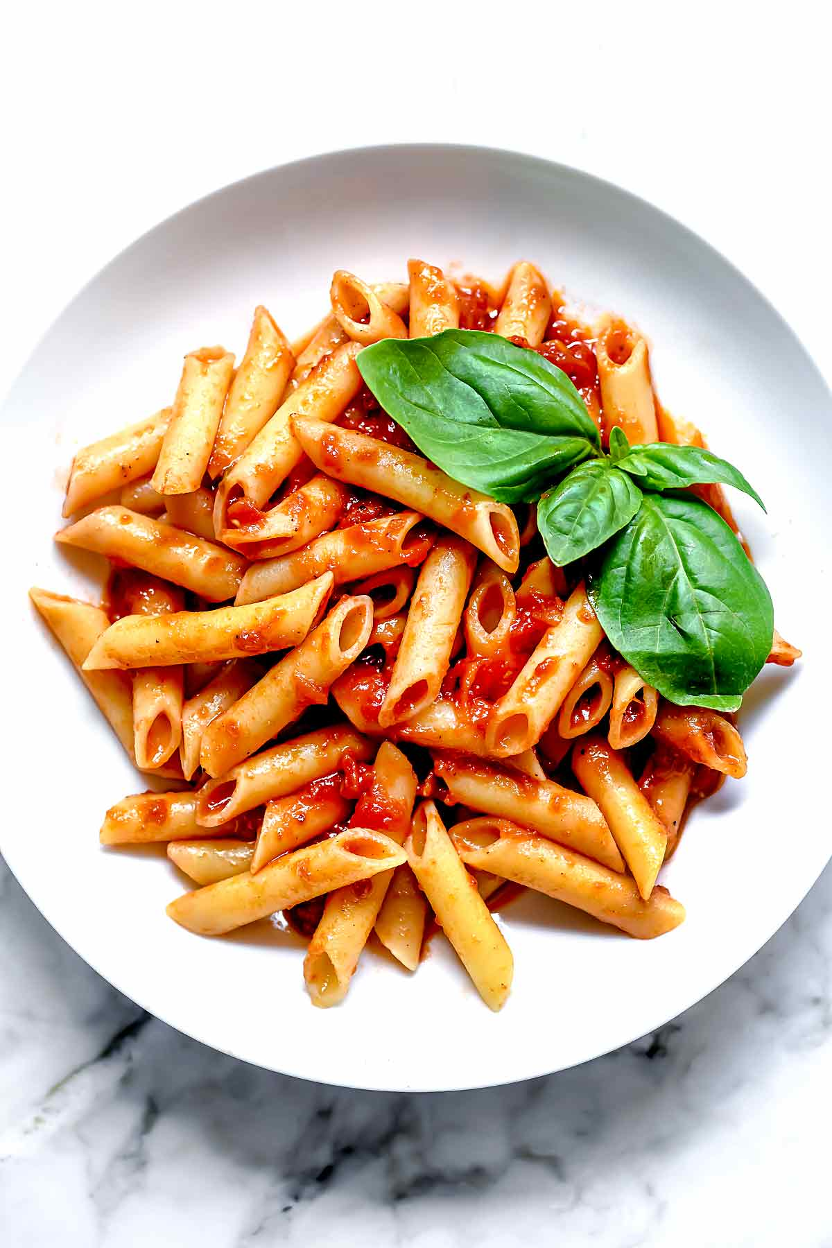 Penne Pasta With Easy Marinara Foodiecrush Com