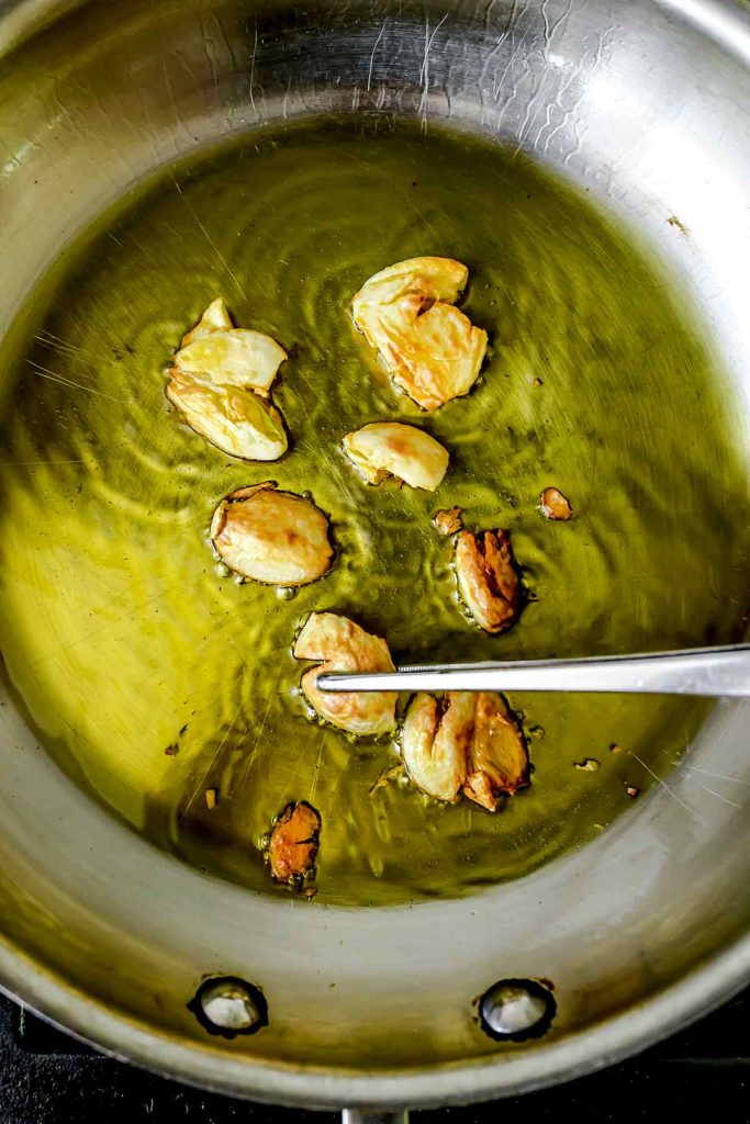 Roasting Garlic In Pan | foodiecrush.com