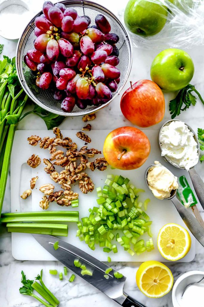 Ingredients Waldorf Salad | foodiecrush.com