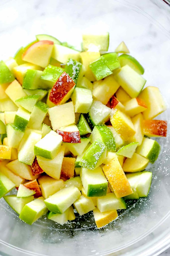 Diced apples | foodiecrush.com