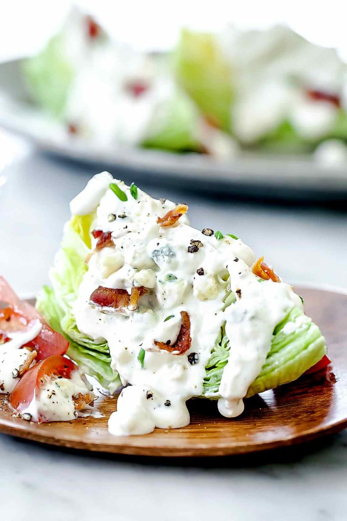Wedge Salad with Blue Cheese Dressing foodiecrush.com