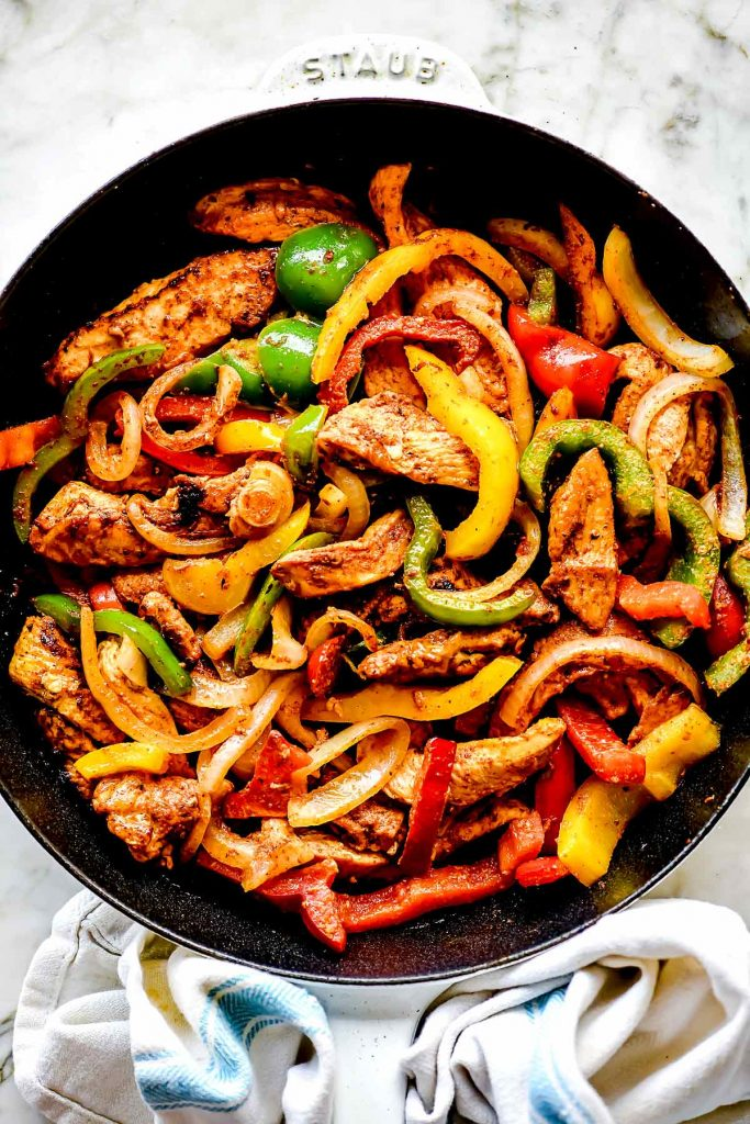 Chicken Fajitas foodiecrush.com