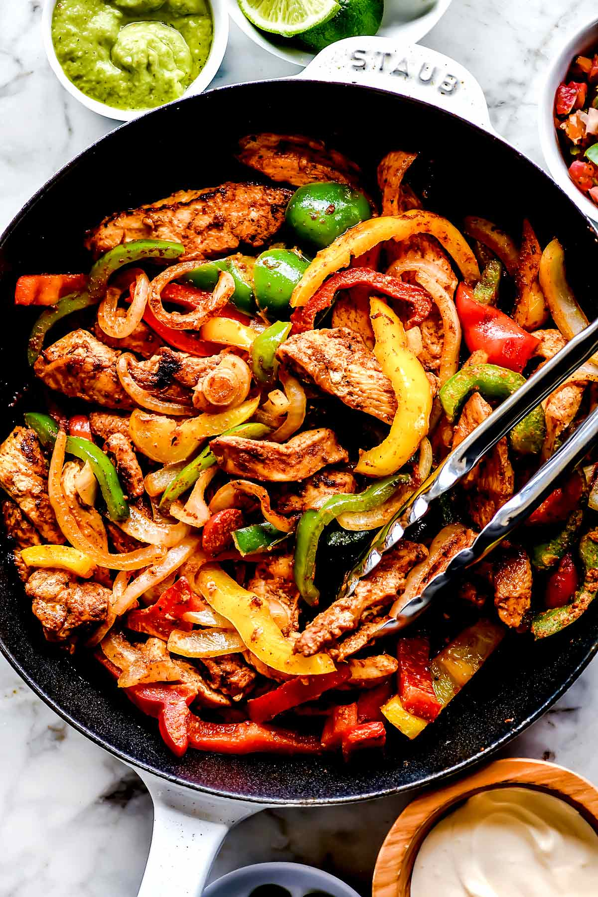 The BEST Chicken Fajitas foodiecrush.com