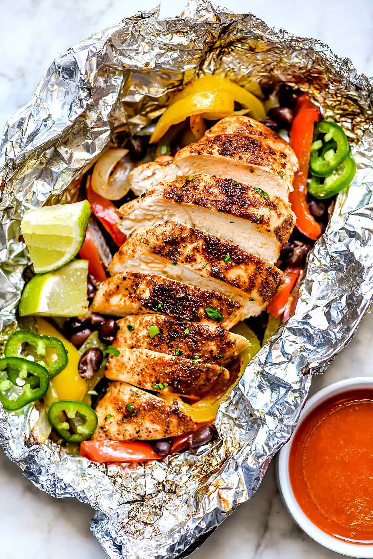 Chicken Fajita Foil Packets | foodiecrush.com