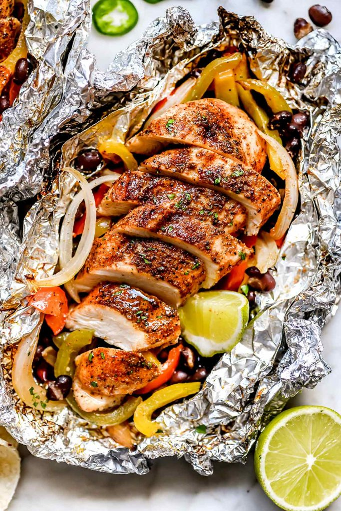 Chicken Fajita Foil Packets | foodiecrush.com