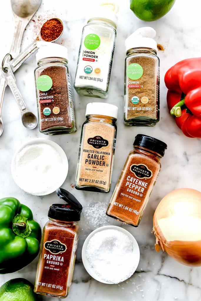 Fajita Seasoning Ingredients Spices foodiecrush.com