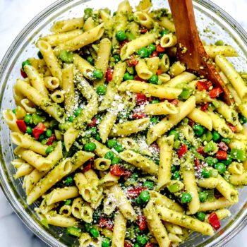 Pesto Pasta Salad | foodiecrush.com
