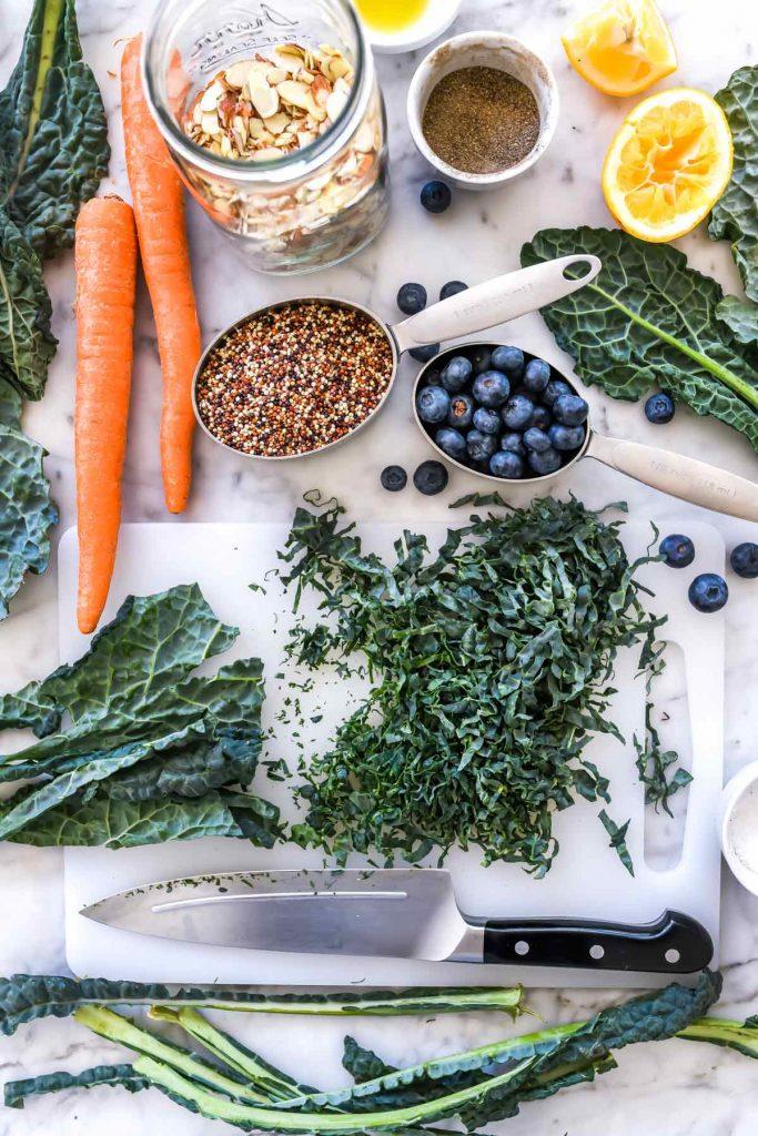 Kale Salad with Quinoa   foodiecrush.com