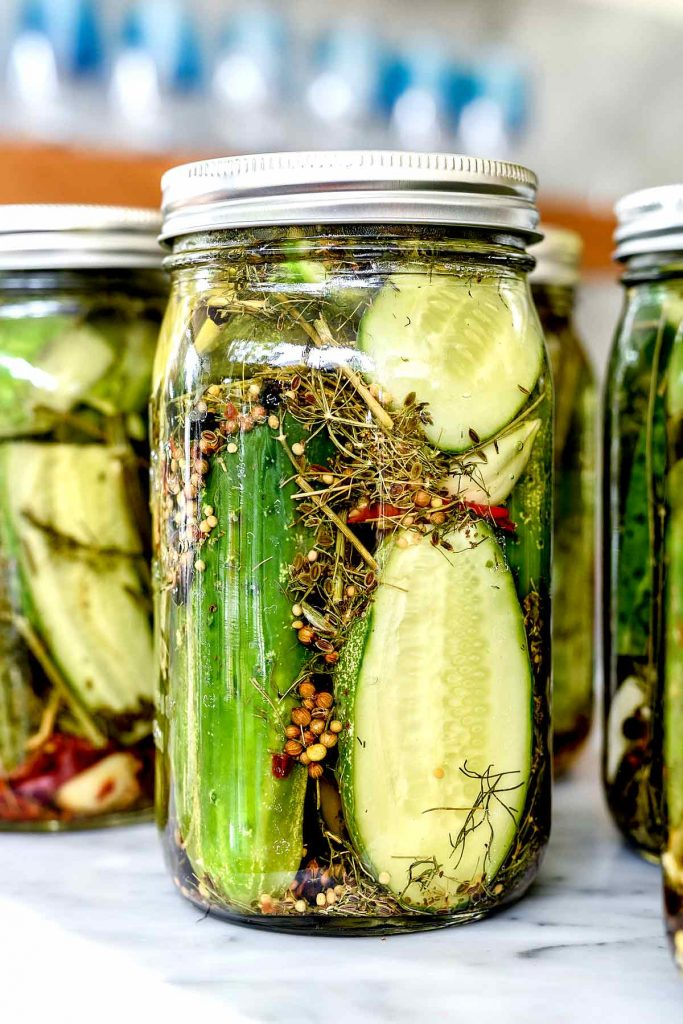 Spicy Garlic Dill Pickles | foodiecrush.com