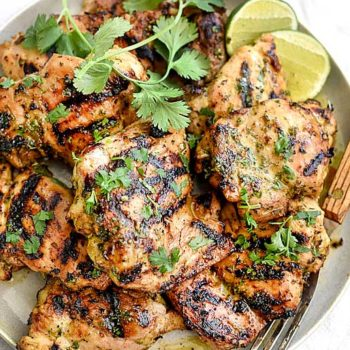 Grilled Cilantro Lime Chicken | foodiecrush.com
