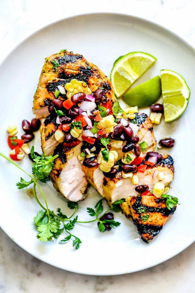 Corn Salsa with Chicken | foodiecrush.com