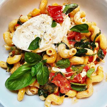 Fresh Tomato Pasta foodiecrush.com