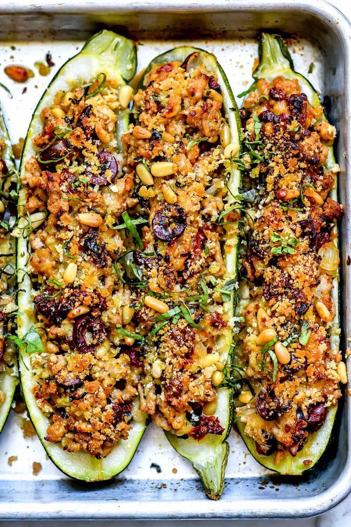 Mediterranean Zucchini Boats | foodiecrush.com