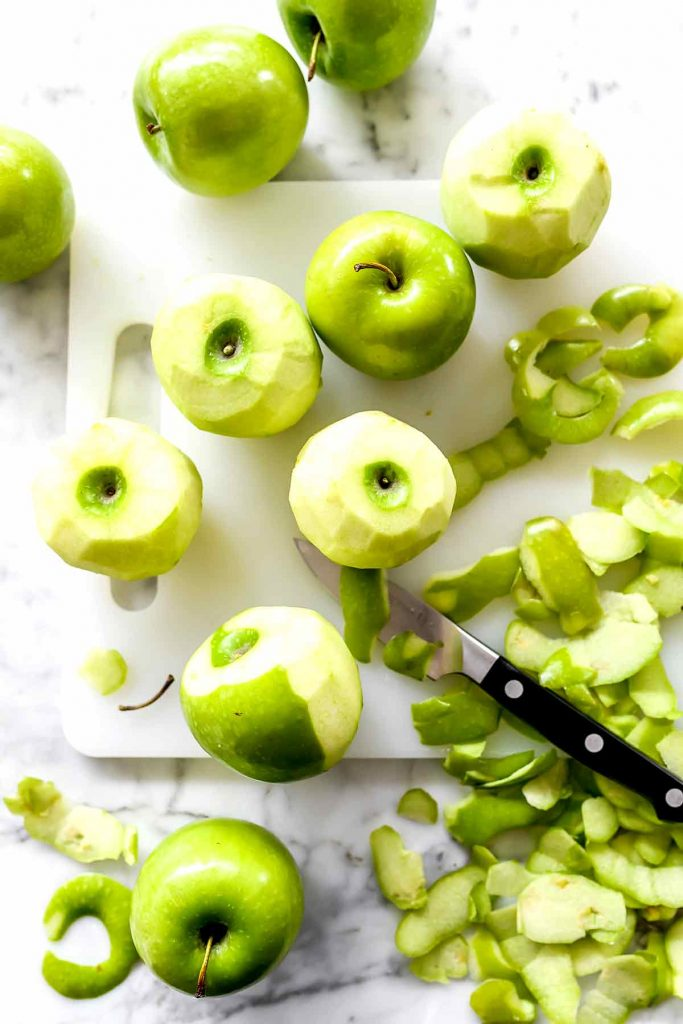 Sliced green apples | foodiecrush.com
