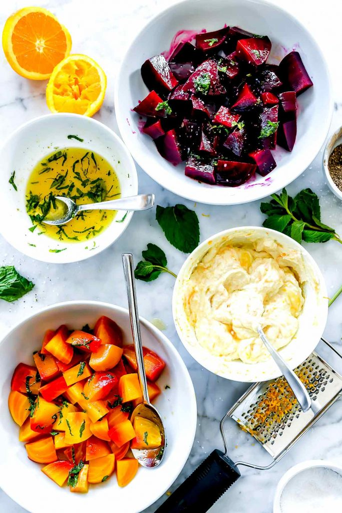 Roasted Beet and Ricotta Salad Ingredients | foodiecrush.com