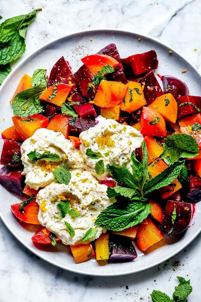Roasted Beet and Ricotta Salad | foodiecrush.com