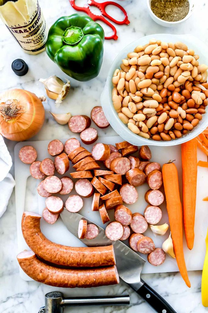 Ingredients Creamy Bean Soup with Sausage | foodiecrush.com
