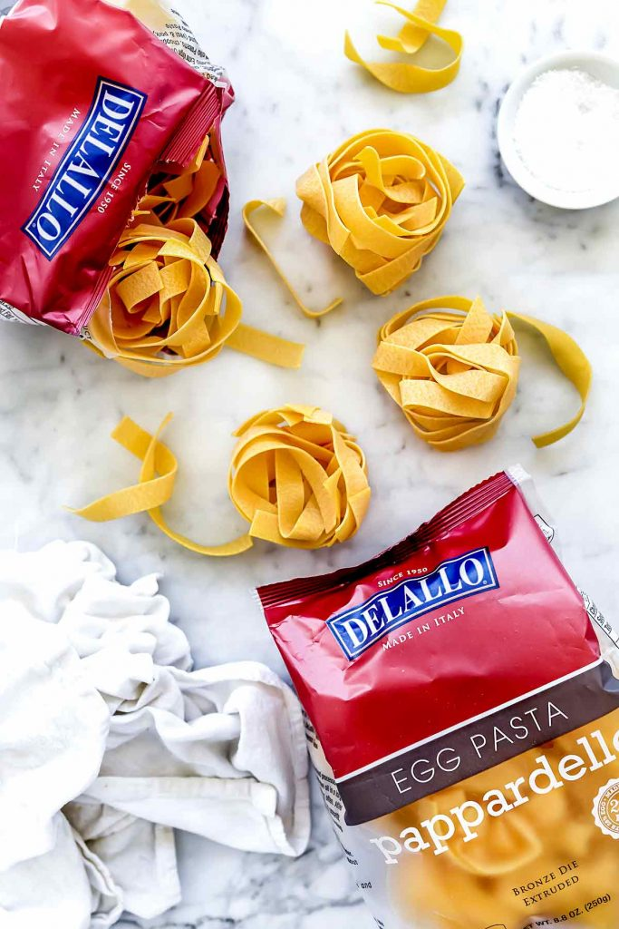DeLallo Pappardelle Pasta Noodles | foodiecrush.com