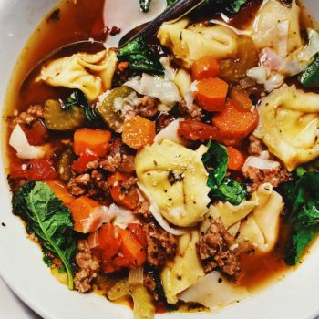 Tortellini and Sausage Soup | foodiecrush.com