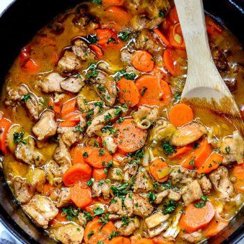 Cider Vinegar Chicken Stew | foodiecrush.com