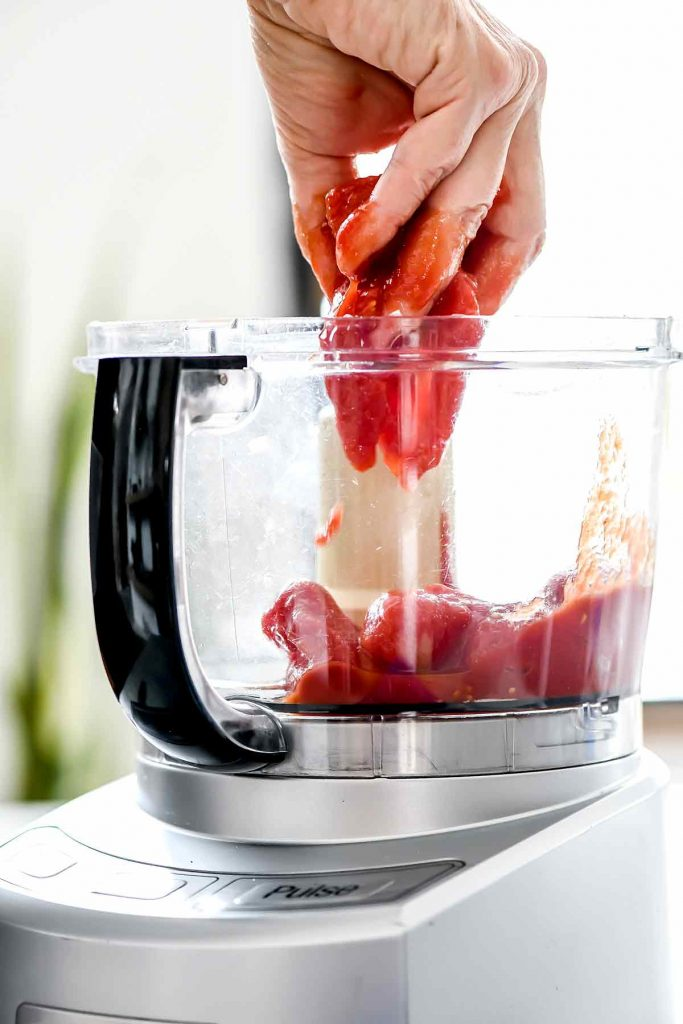 Canned tomatoes in food processor | foodiecrush.com