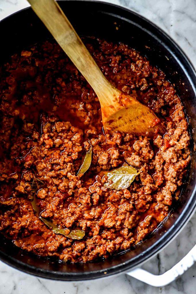 Bolognese Meat Sauce | foodiecrush.com
