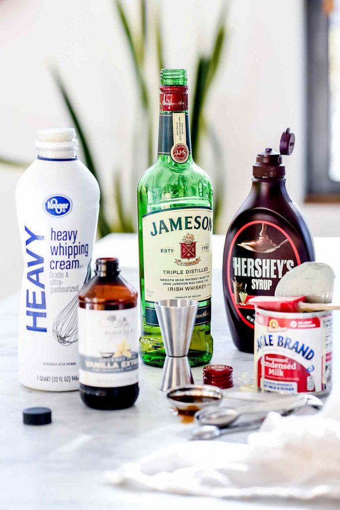 Homemade Baileys Irish Cream Ingredients | foodiecrush.com