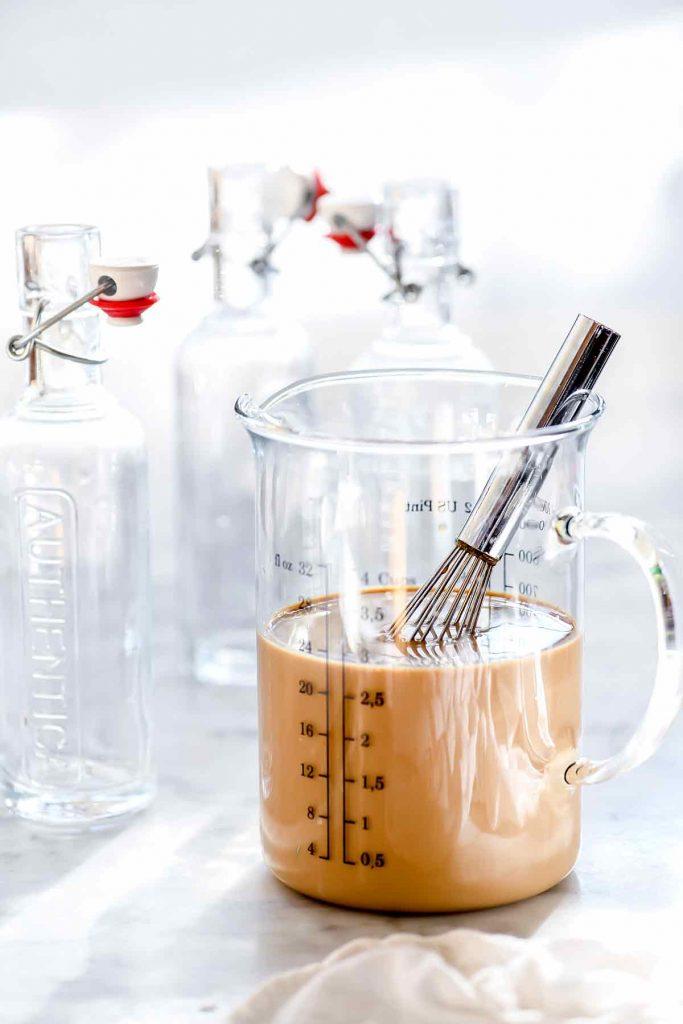 Homemade Baileys Irish Cream Mixing | foodiecrush.com