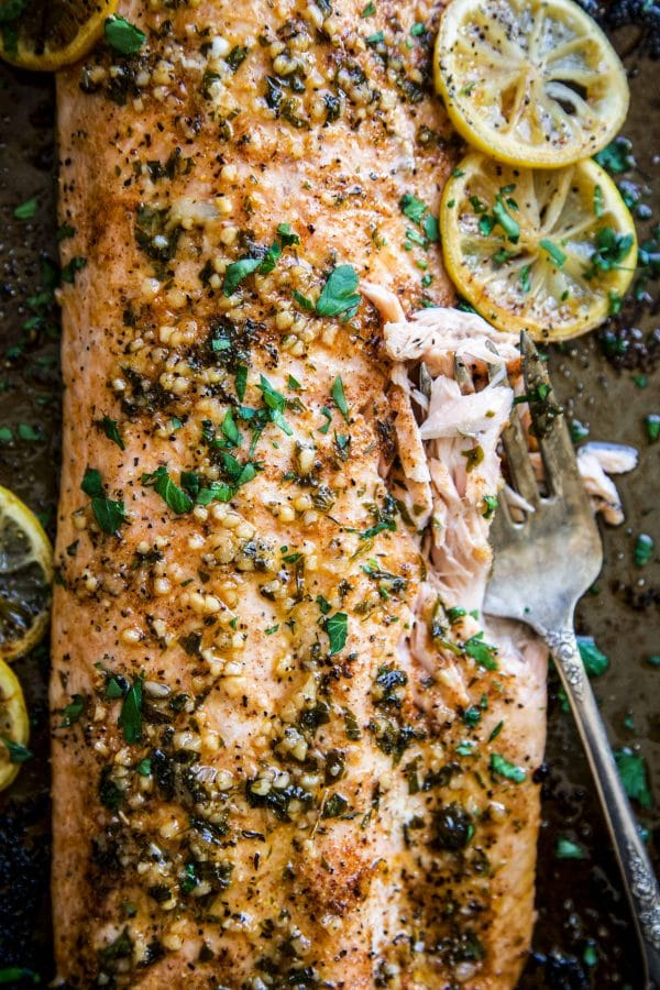 Baked Cajun Parmesan Salmon from Climbing Grier Mountain on foodiecrush.com