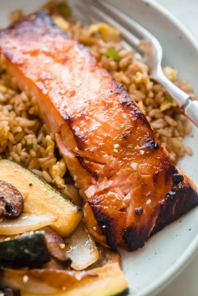 Broiled Miso Salmon from Little Spice Jar on foodiecrush.com