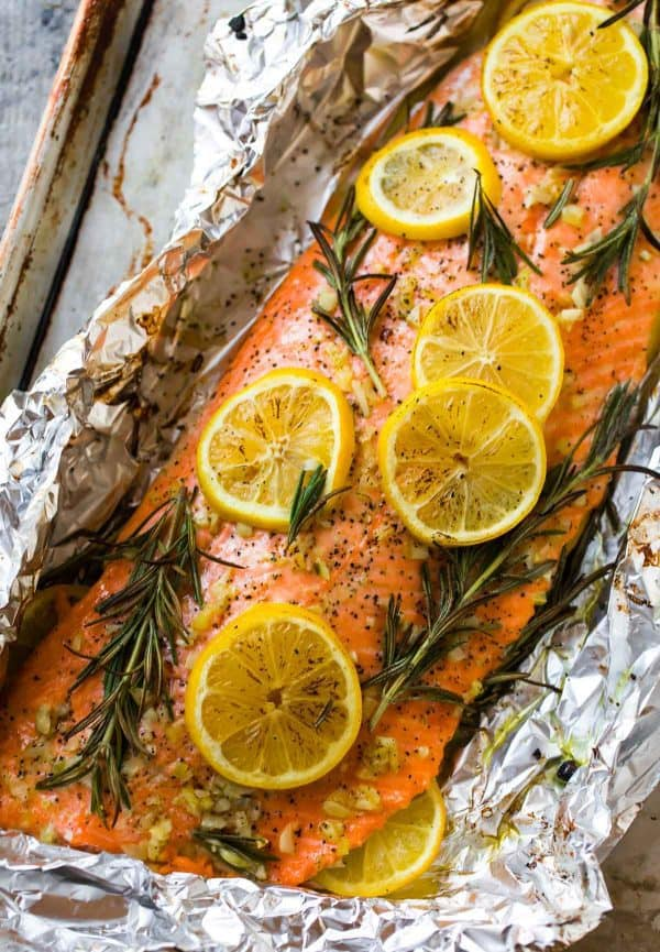 Baked Salmon in Foil from Well Plated on foodiecrush.com