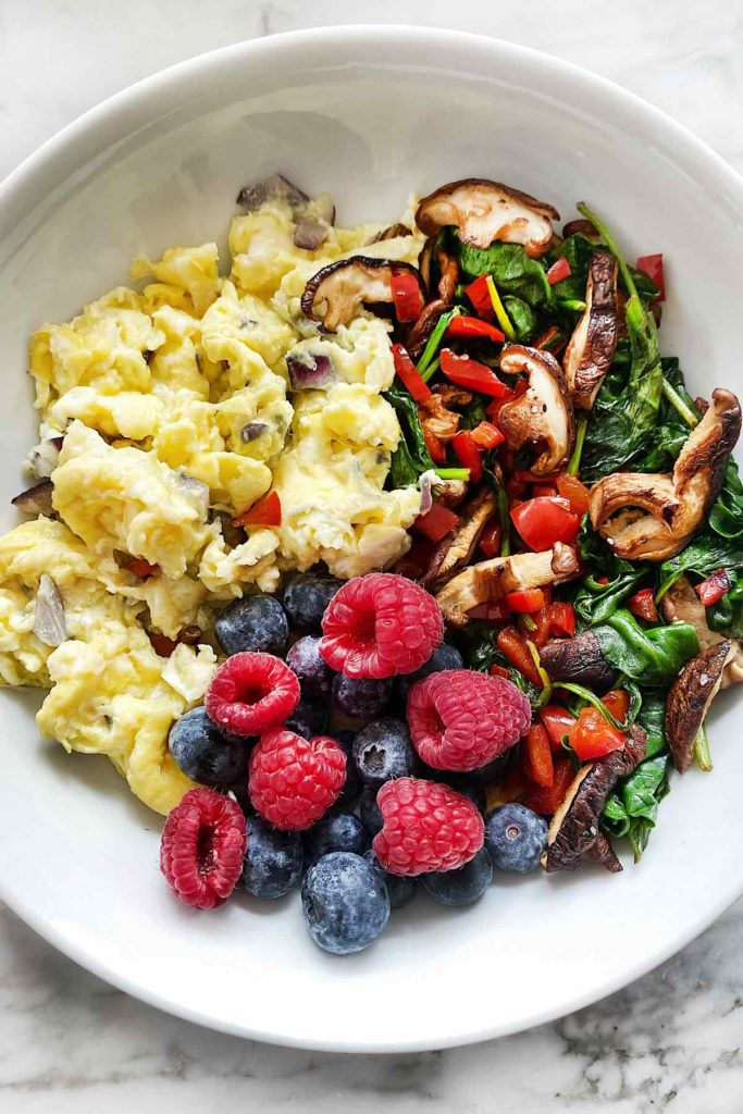 Scrambled Eggs and Savory Spinach foodiecrush.com