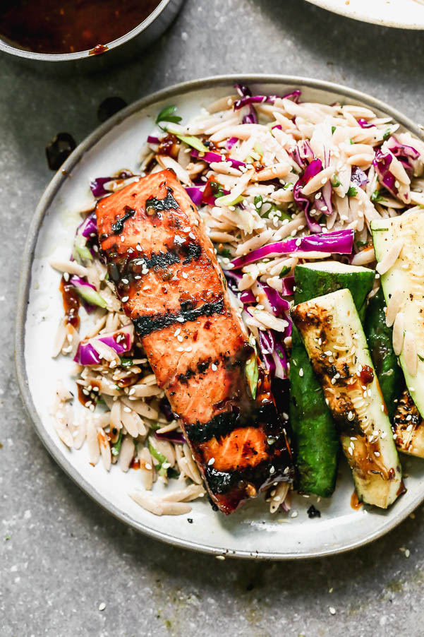 5-Ingredient Asian Grilled Salmon Marinade from Cooking for Keeps on foodiecrush.com
