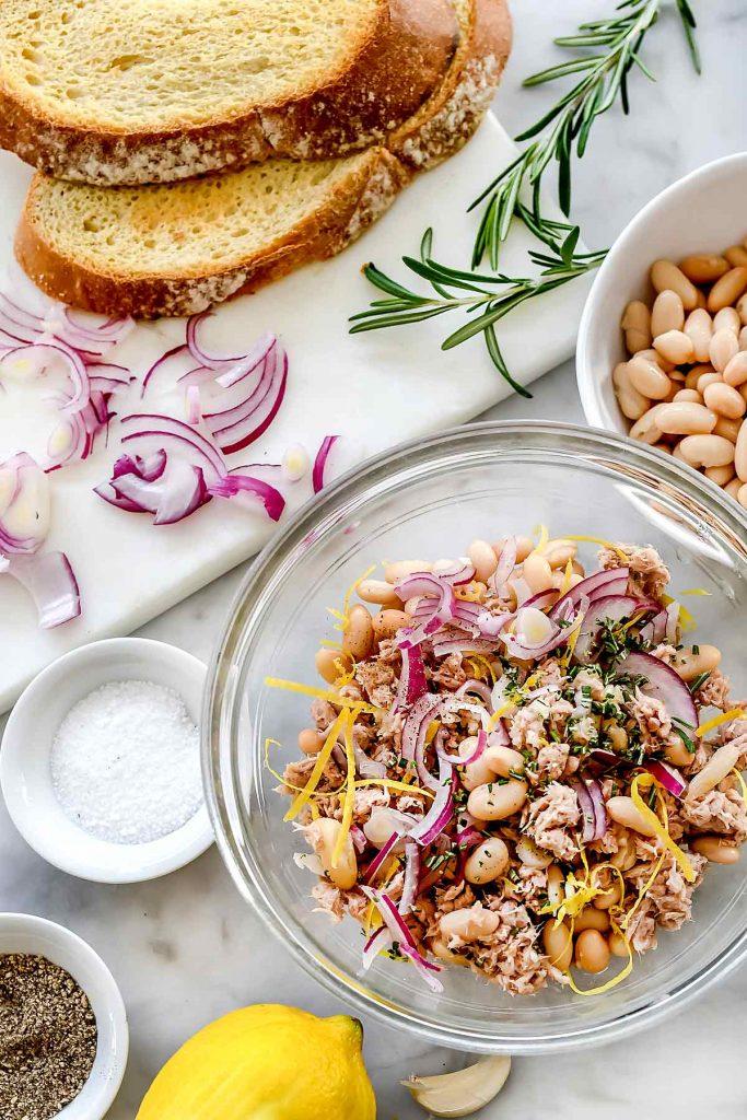 Mediterranean Tuna and White Beans | foodiecrush.com