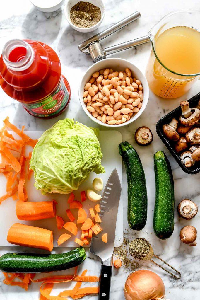 Weight Watchers Vegetarian Soup ingredients | foodiecrush.com