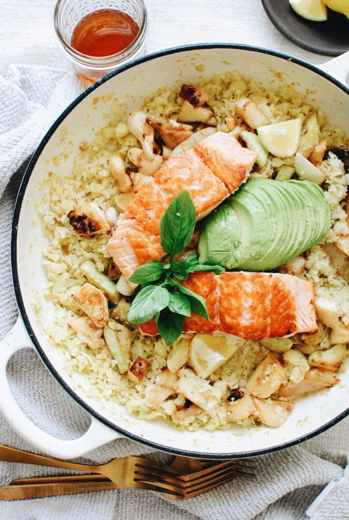Salmon and Cauliflower Bowls from Bev Cooks on foodiecrush.com