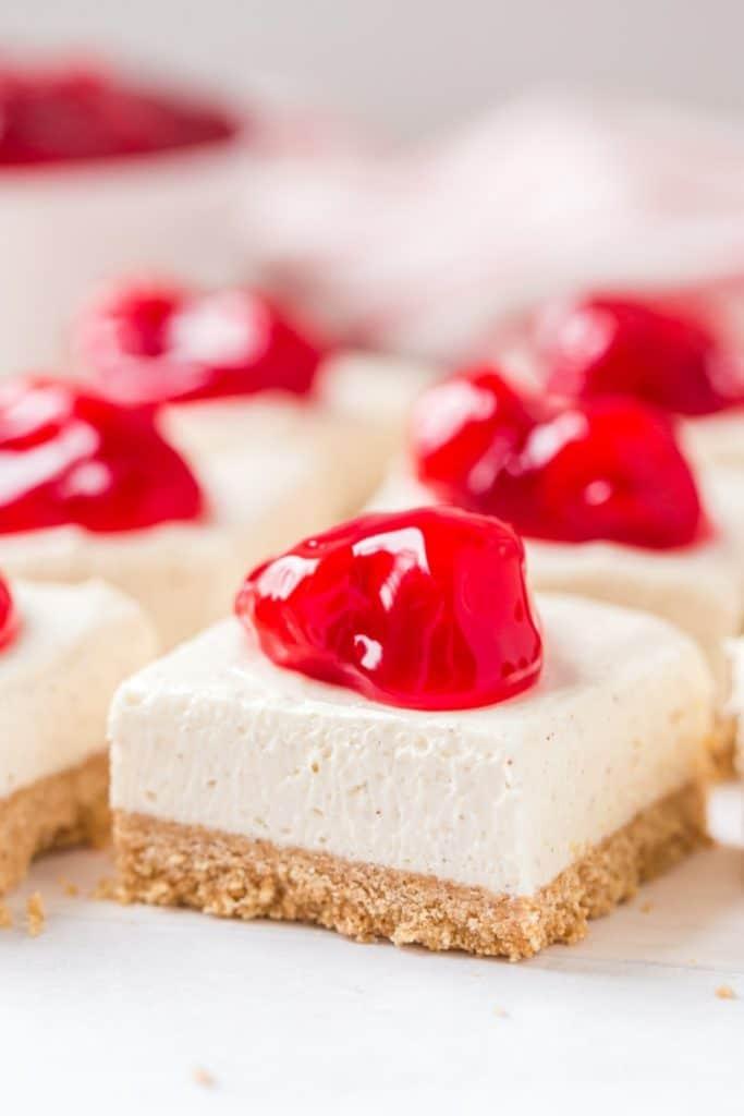 Cherry Cheesecake Bars from Recipe Girl on foodiecrush.com