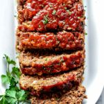Classic Meatloaf Recipe with Oats foodiecrush.com