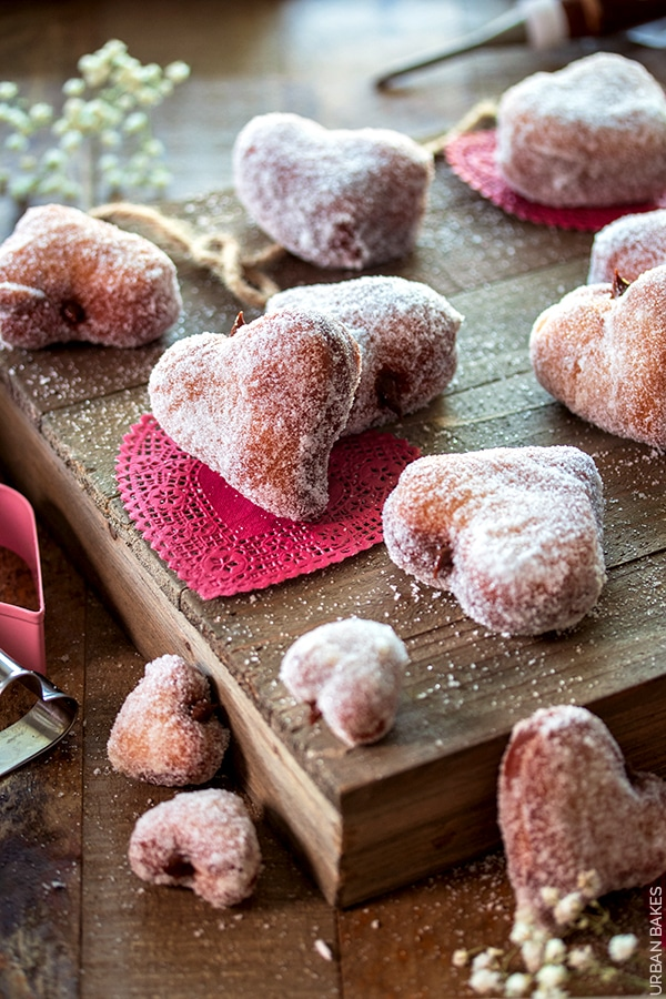 Heart Shaped Nutella Filled Donuts from Urban Bakes