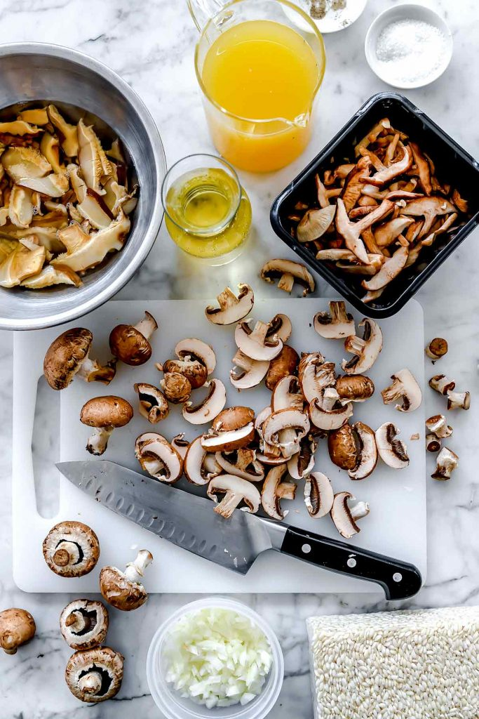 Ingredients Mushroom Risotto | foodiecrush.com