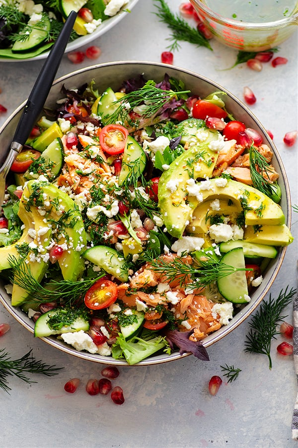 Avocado and Smoked Salmon Salad from Whole Heavenly Oven on foodiecrush.com