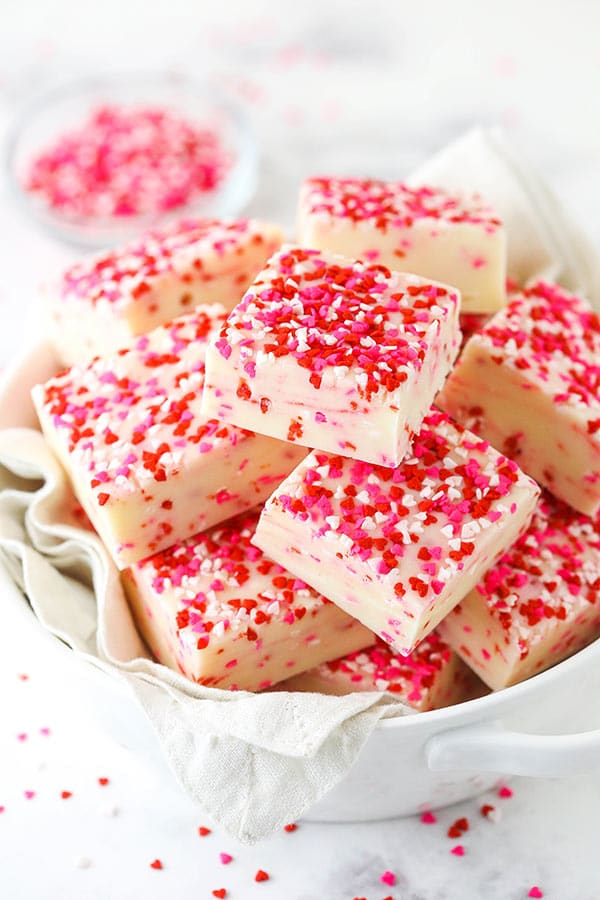 Valentine's Day Fudge by Life Love and Sugar on foodiecrush.com
