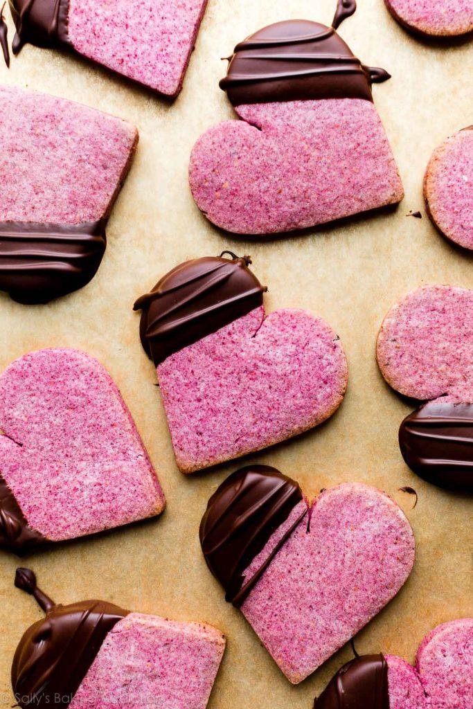 Raspberry Sugar Cookies from Sally's Baking Addiction on foodiecrush.com